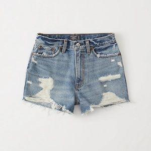 Abercrombie high rise Denim shorts